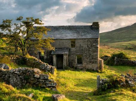 Old cottage on Bodmin moor