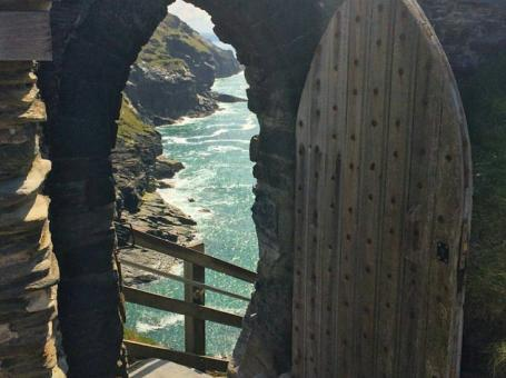 King Arthur's view at Tintagel, Cornwall