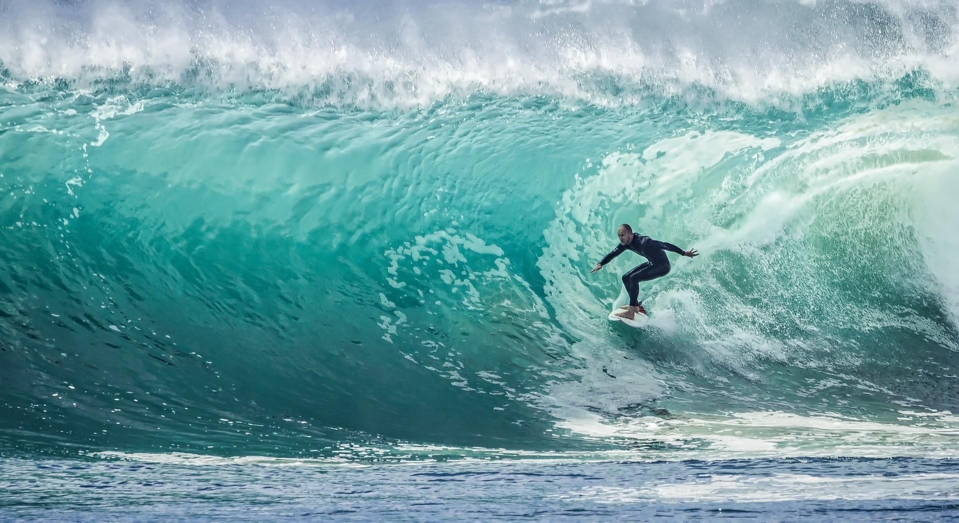 Cornish surfer Tom Butler rides biggest ever wave at 100ft high