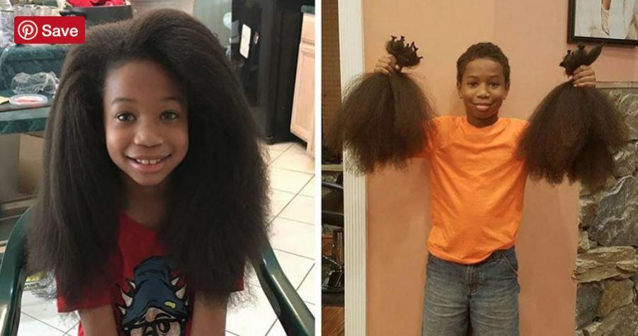 A 10 year old boy spent two years growing his hair, donates it to make wigs for kids with cancer
