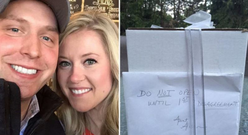 A couple waits over 9 years to open wedding gift: 'We thought the box would save us'
