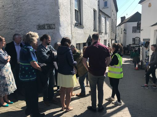 Extras are being briefed for their scenes (Image: Simon Heester)