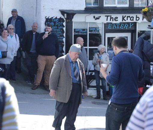 Ian McNeice is on set (Image: Simon Heester)