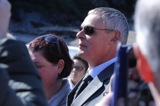 Martin Clunes has been spotted soaking up the sunshine (Image: Simon Heester)