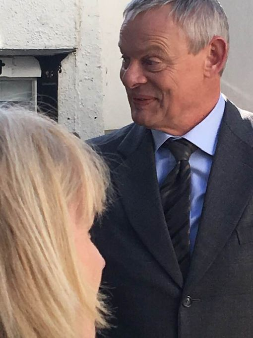 Martin Clunes is in the village (Image: Simon Heester)
