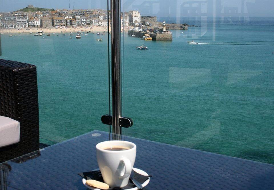 St Ives cafe sea view