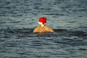 Christmas swim St Ives