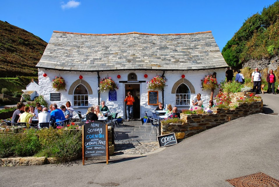 Cottage cafe in Boscastle
